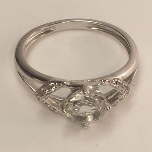 NVC SS 925 Silver Clear Crystal Ring Size 9